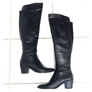 Over the knee Italian leather boots- price firm